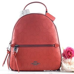 NWT COACH Jordyn Backpack Signature Leather Bag